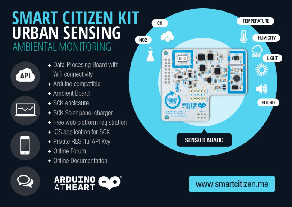 Smart Citizen Kit specifications by Institute for advanced architecture of Catalonia
