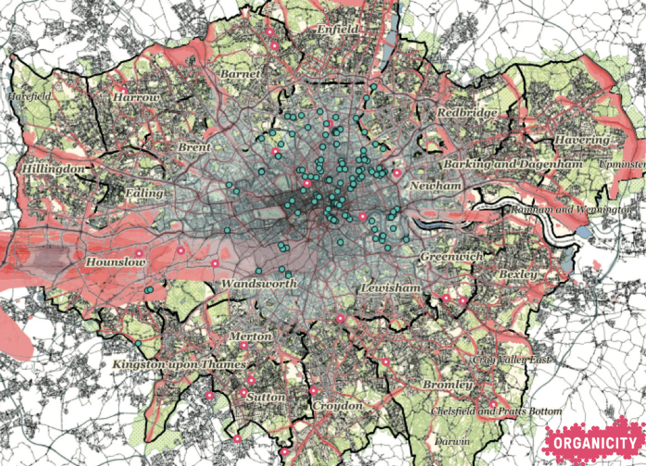 Figure 2: First attempt at merging Tranquil City, OrganiCity and open noise and air quality data sets together